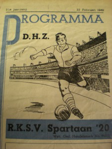 1949 DHZ programmaboek Stadionwedstrijd